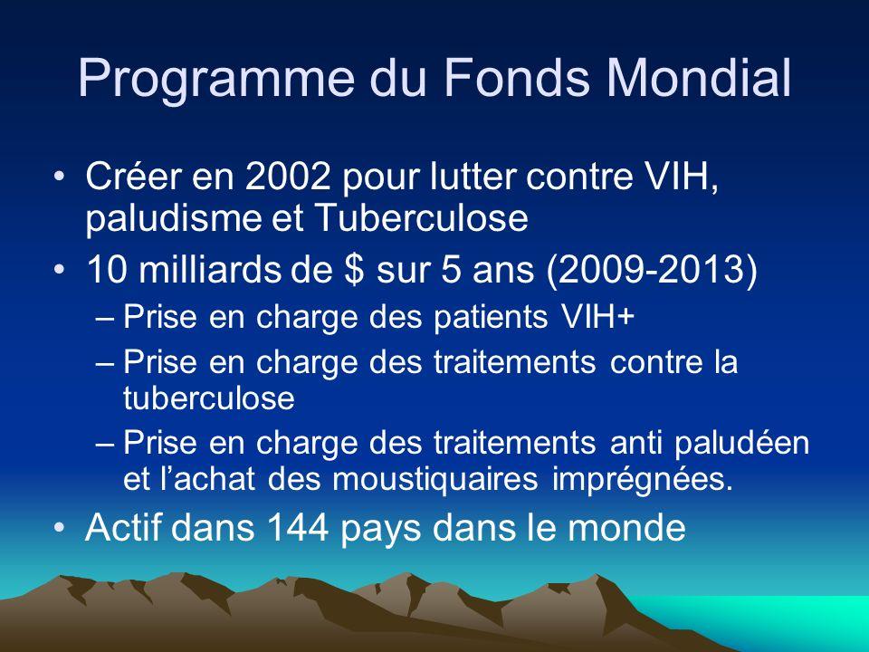 Programme du Fonds Mondial