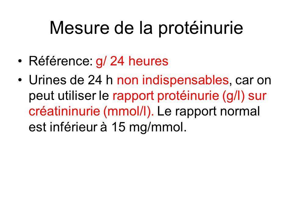 Mesure de la protéinurie