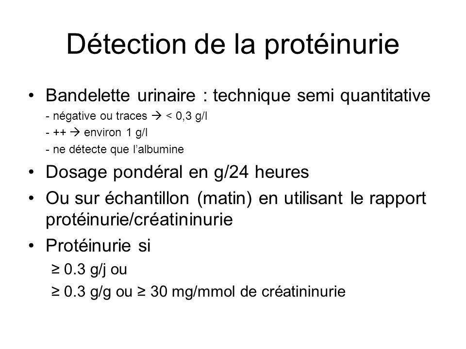 Détection de la protéinurie