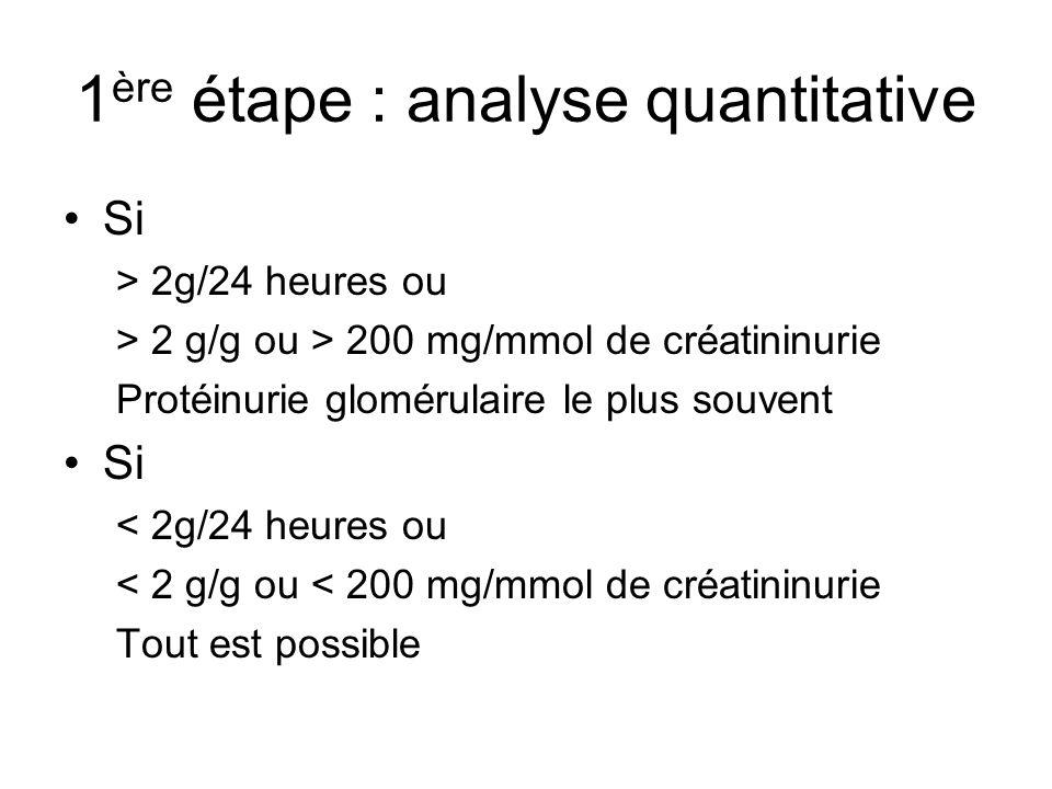 1ère étape : analyse quantitative