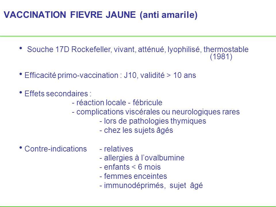 VACCINATION FIEVRE JAUNE (anti amarile)