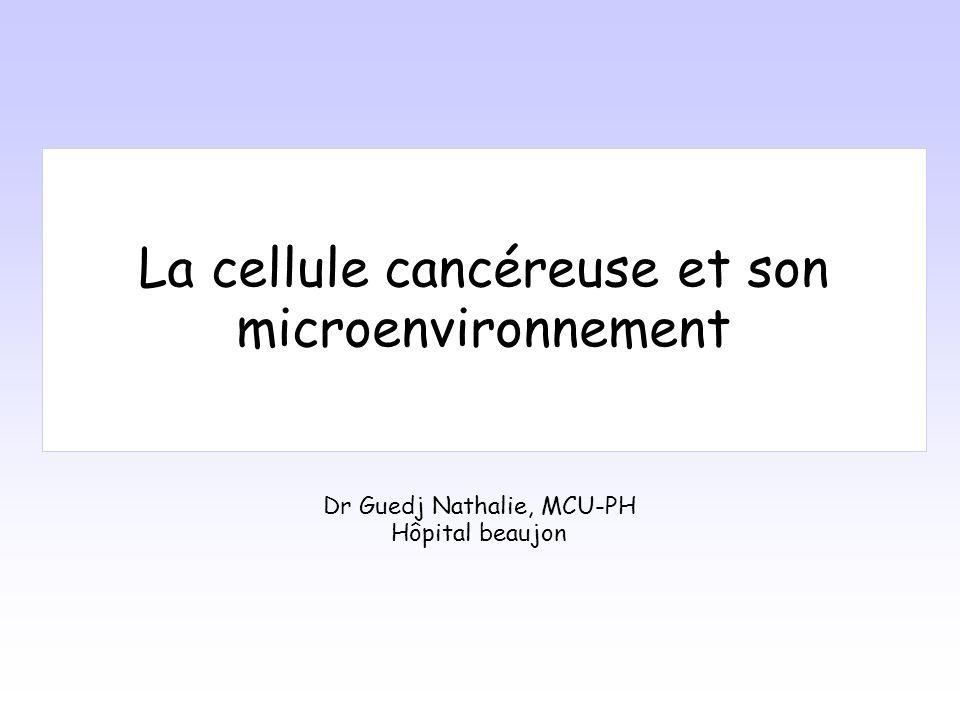 La cellule cancéreuse et son microenvironnement