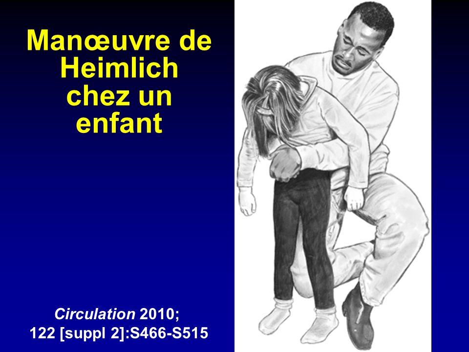 Manœuvre de Heimlich chez un enfant