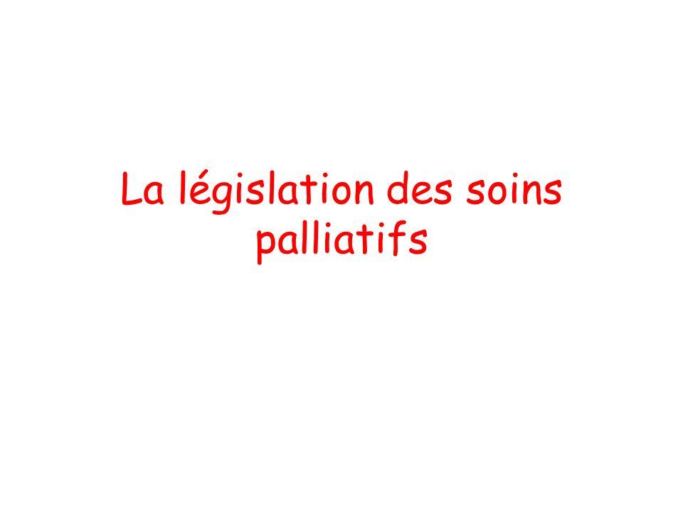 La législation des soins palliatifs