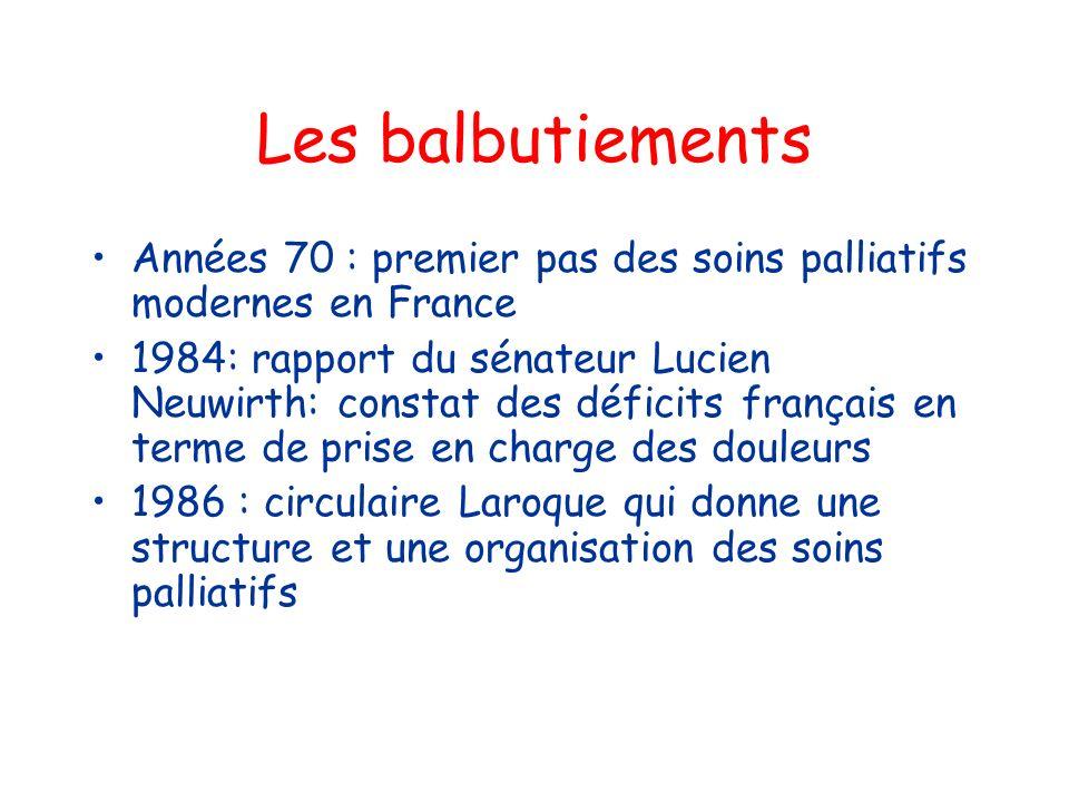 Les balbutiements Années 70 : premier pas des soins palliatifs modernes en France.