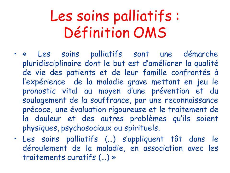 Les soins palliatifs : Définition OMS