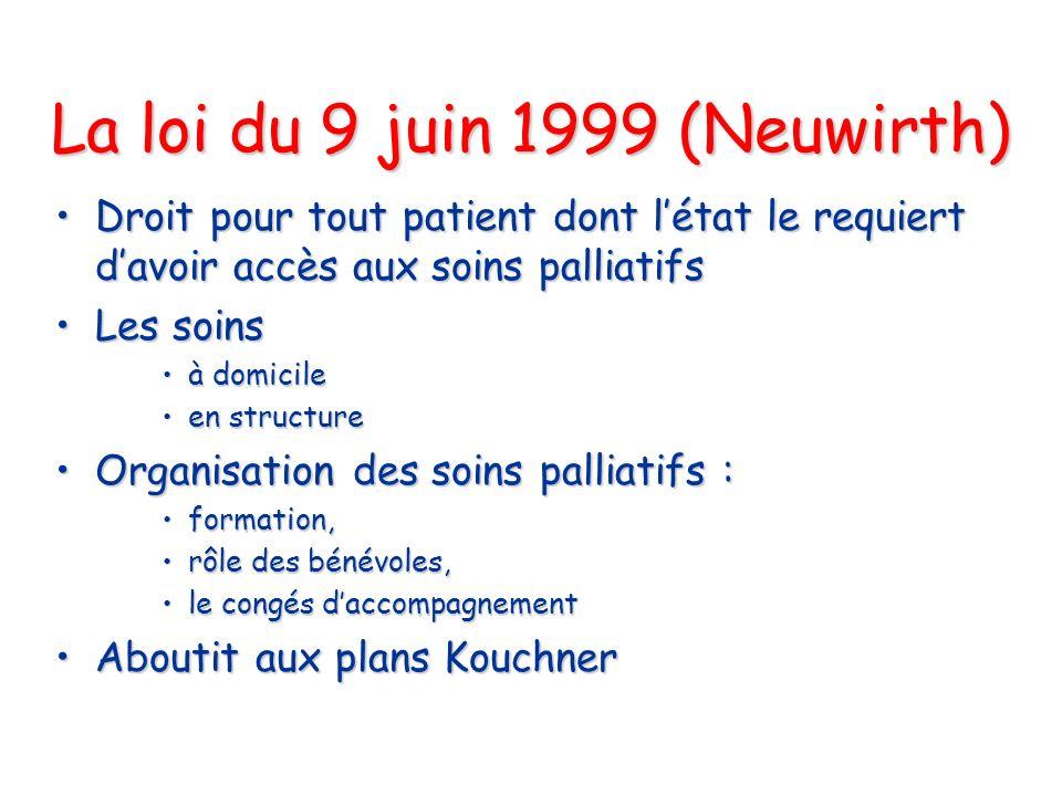 La loi du 9 juin 1999 (Neuwirth)