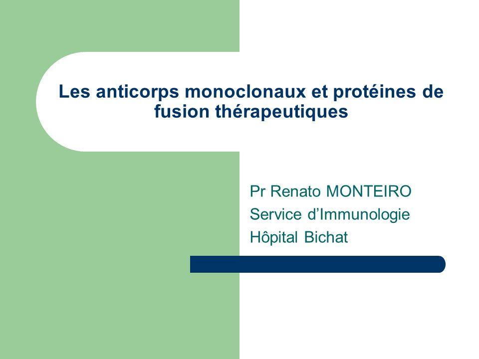 Les anticorps monoclonaux et protéines de fusion thérapeutiques