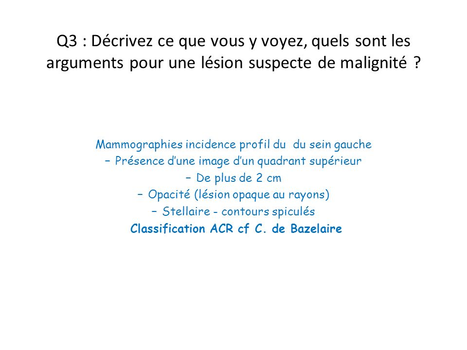Classification ACR cf C. de Bazelaire