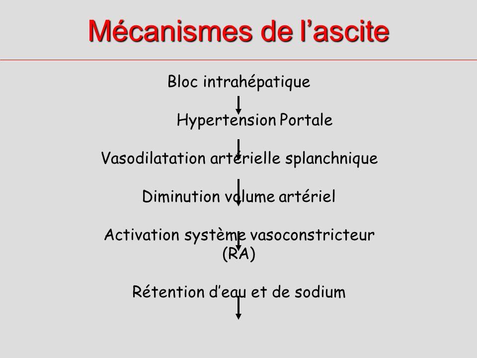 Mécanismes de l'ascite