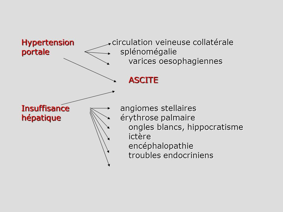 Hypertension circulation veineuse collatérale