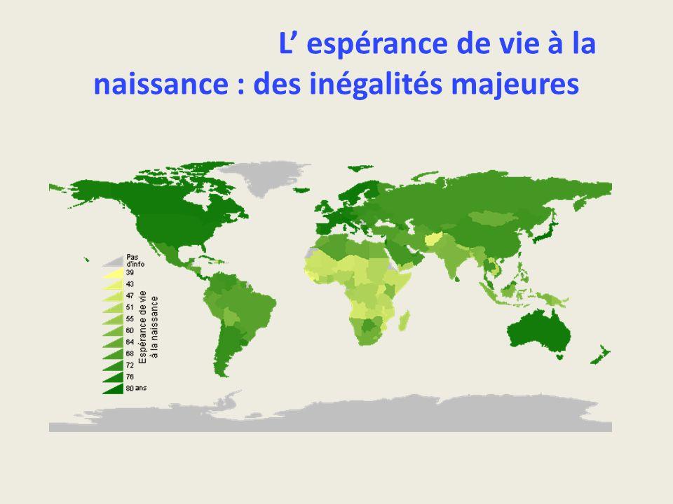 L' espérance de vie à la naissance : des inégalités majeures