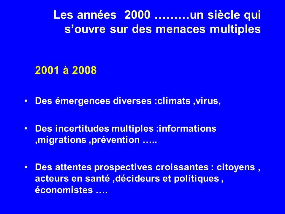 Les années 2000 ………un siècle qui s'ouvre sur des menaces multiples