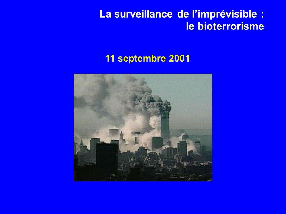 La surveillance de l'imprévisible : le bioterrorisme