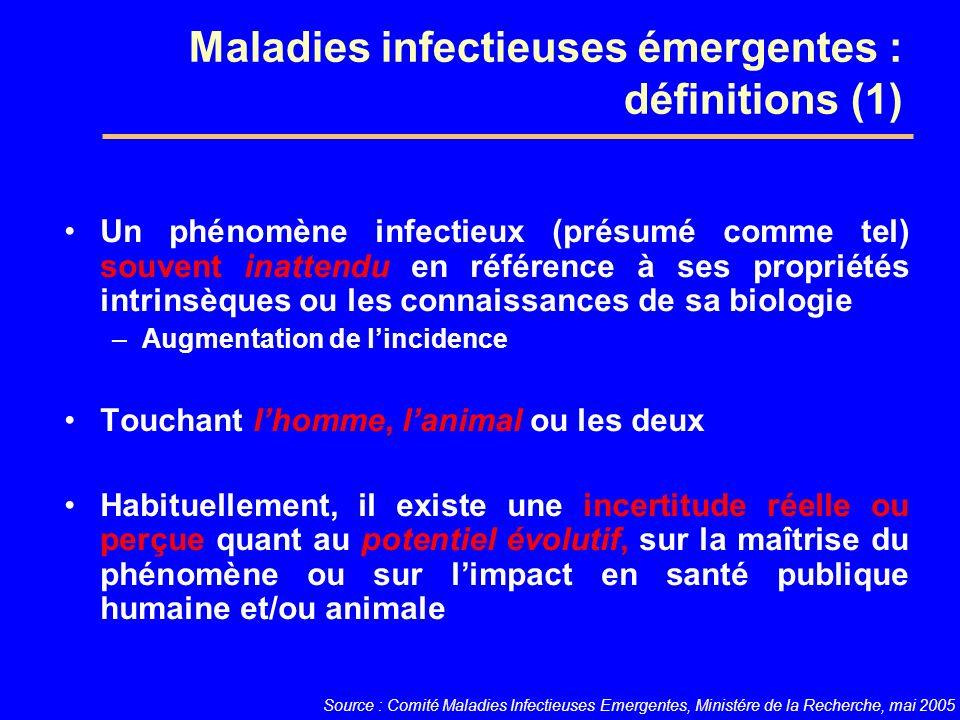 Maladies infectieuses émergentes : définitions (1)