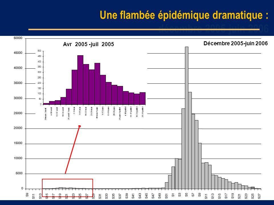 Une flambée épidémique dramatique : décembre 2005-juin 2006
