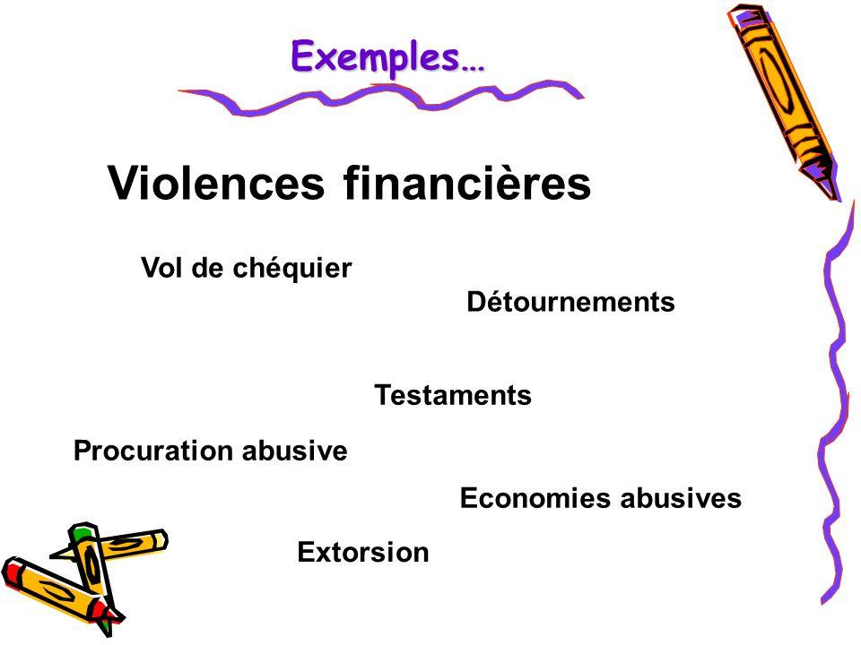 Violences financières