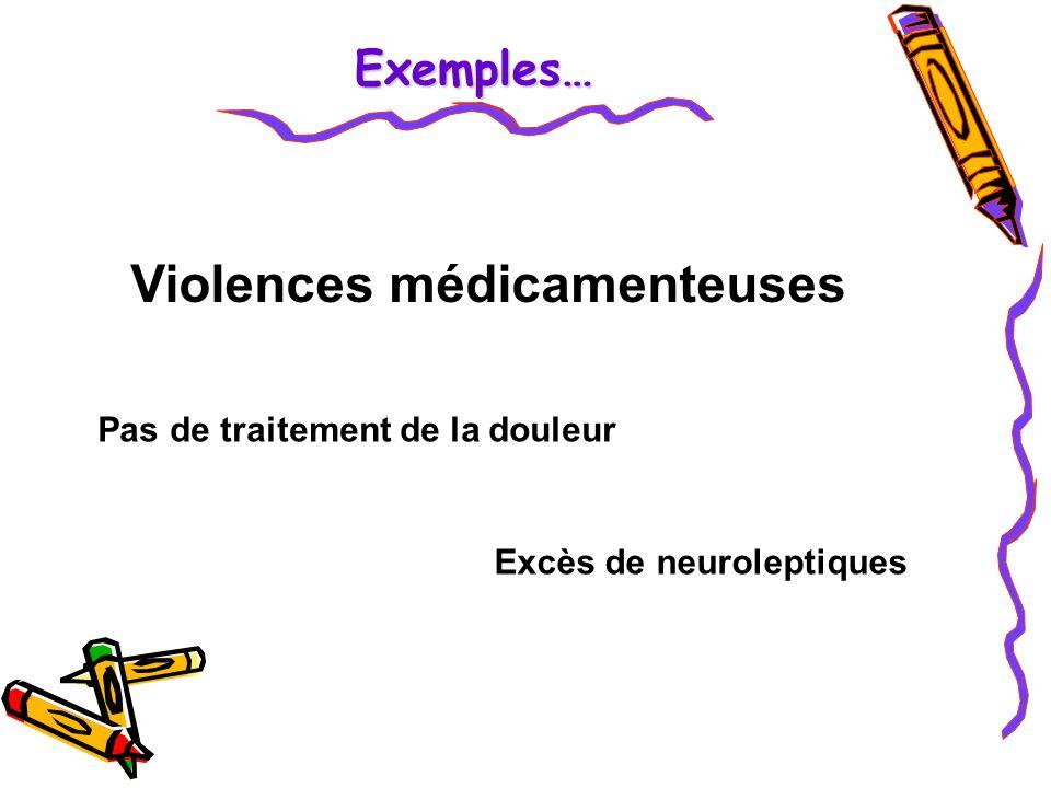 Violences médicamenteuses