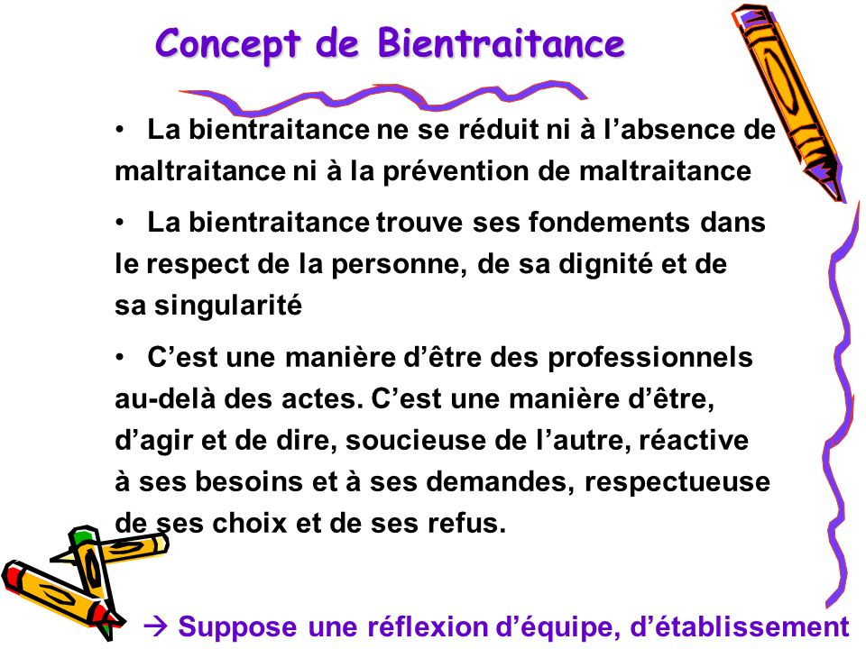 Concept de Bientraitance