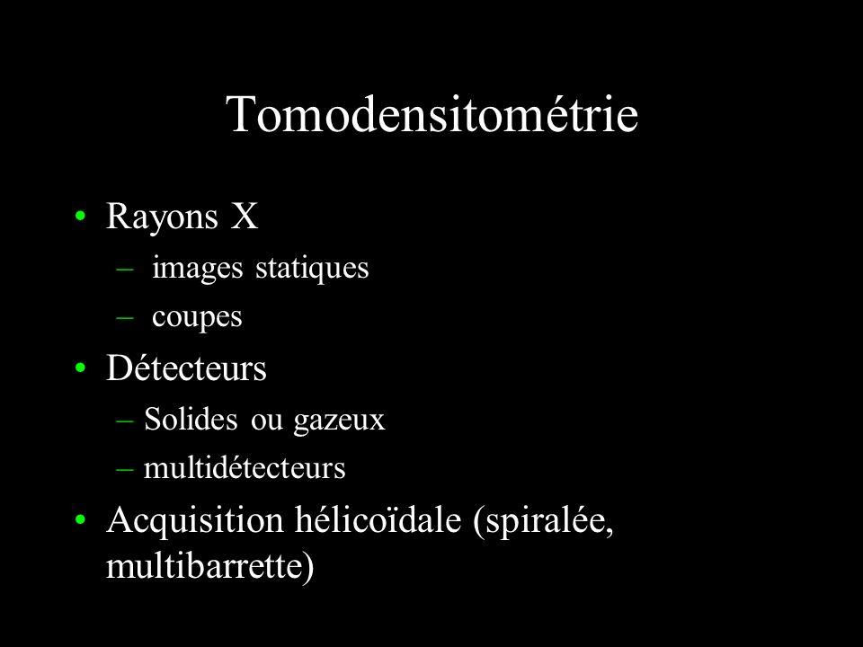 Tomodensitométrie Rayons X Détecteurs