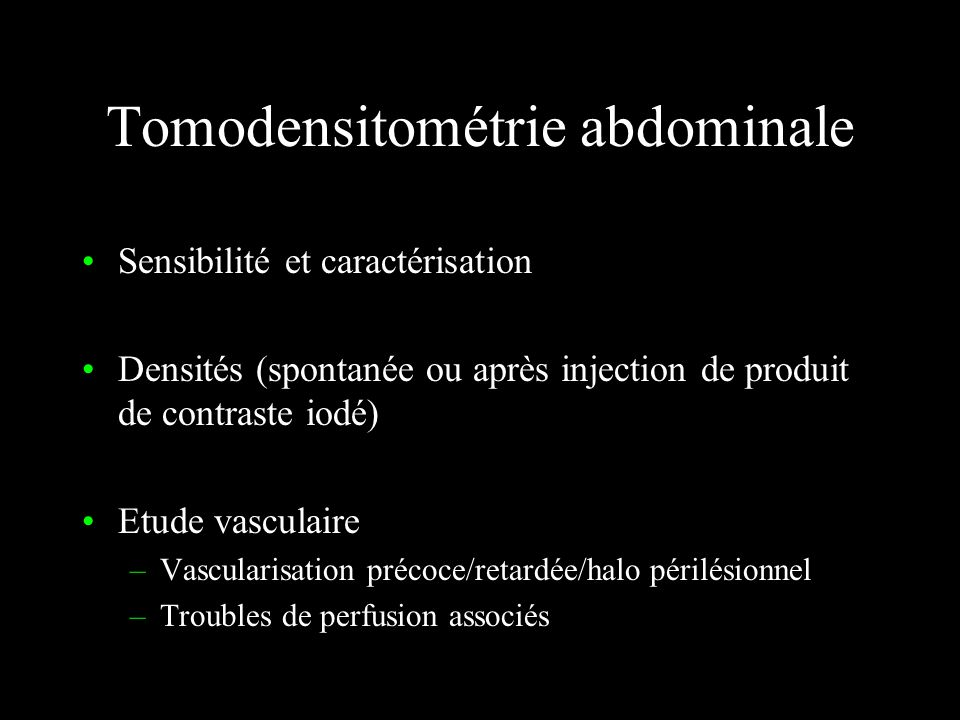 Tomodensitométrie abdominale