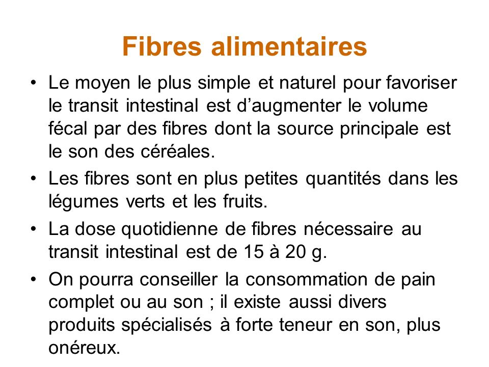 Fibres alimentaires