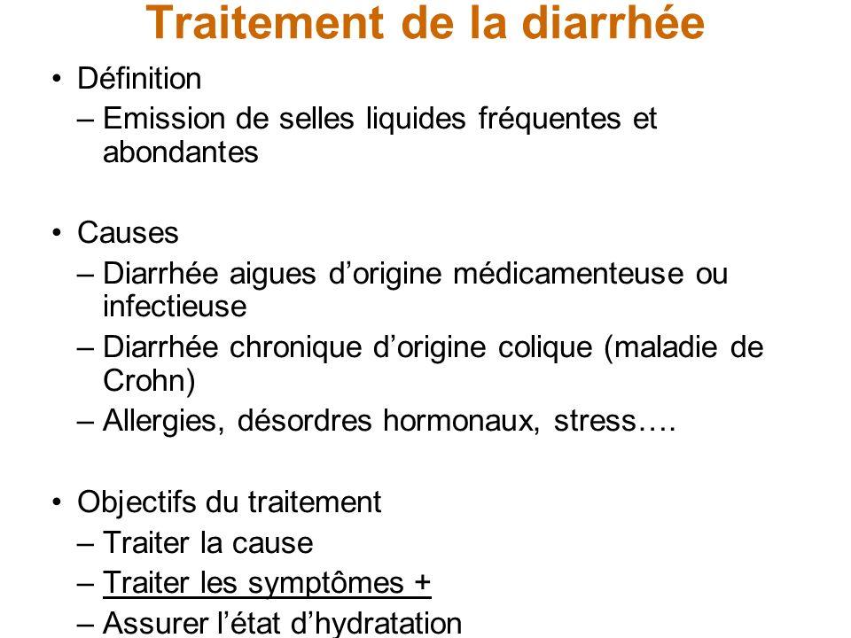 Traitement de la diarrhée