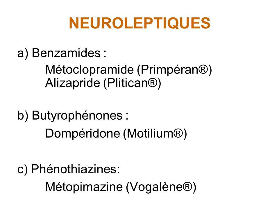 NEUROLEPTIQUES a) Benzamides :