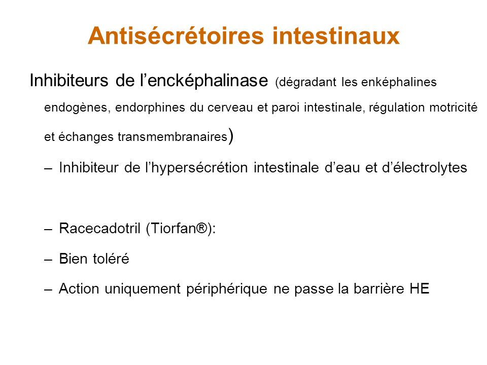 Antisécrétoires intestinaux