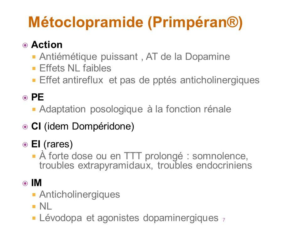 Métoclopramide (Primpéran®)