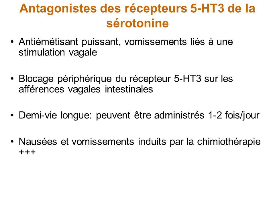 Antagonistes des récepteurs 5-HT3 de la sérotonine