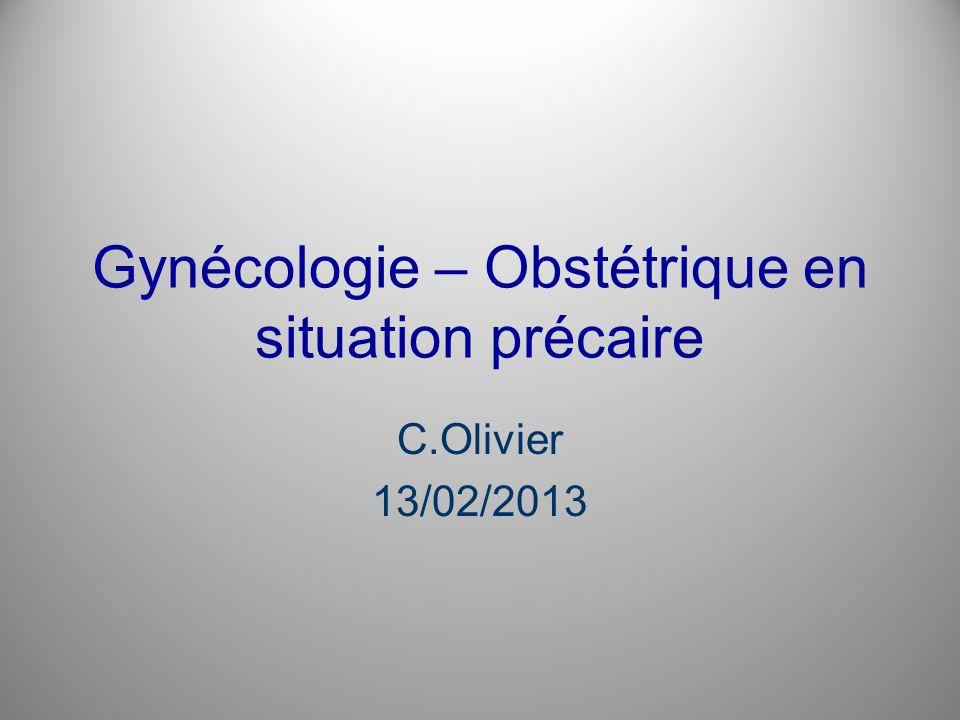 Gynécologie – Obstétrique en situation précaire