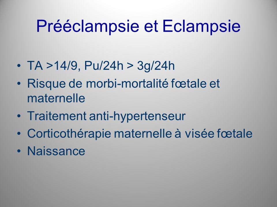 Prééclampsie et Eclampsie