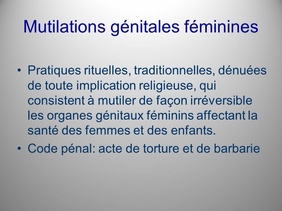 Mutilations génitales féminines
