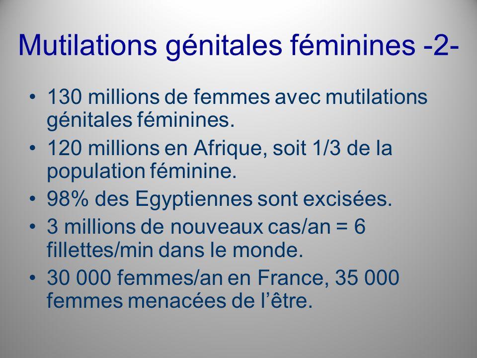 Mutilations génitales féminines -2-