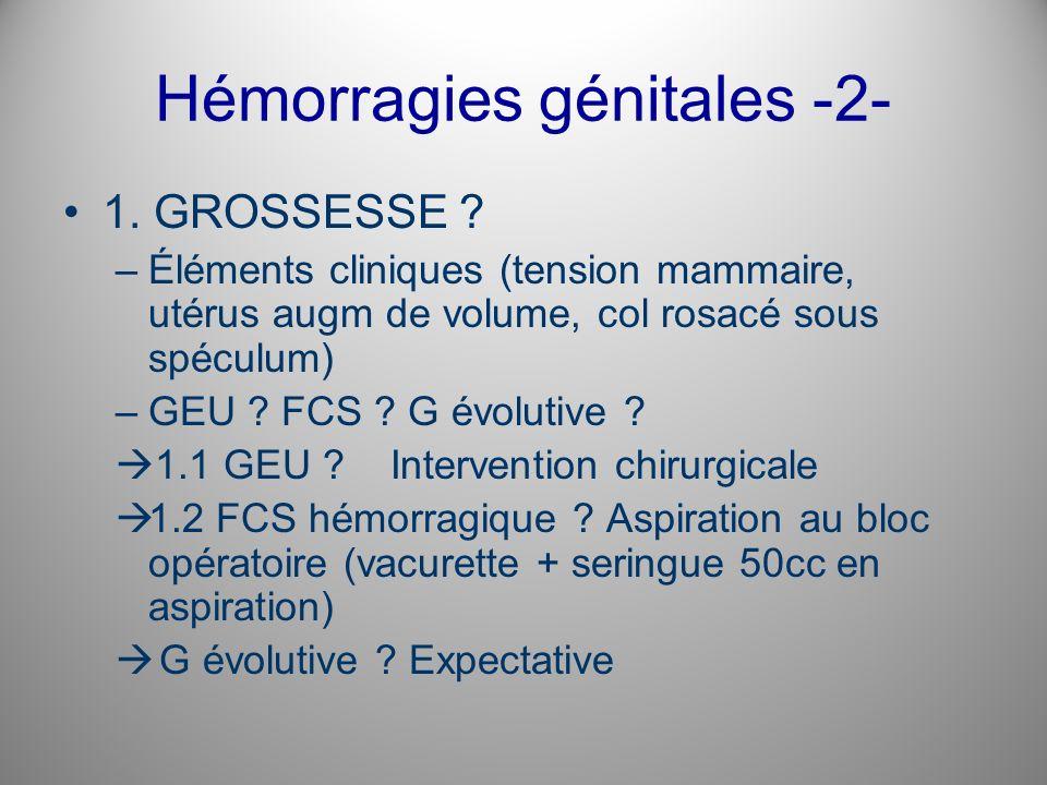 Hémorragies génitales -2-