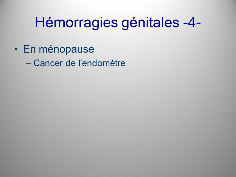Hémorragies génitales -4-