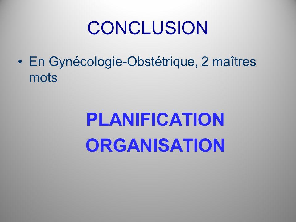 PLANIFICATION ORGANISATION