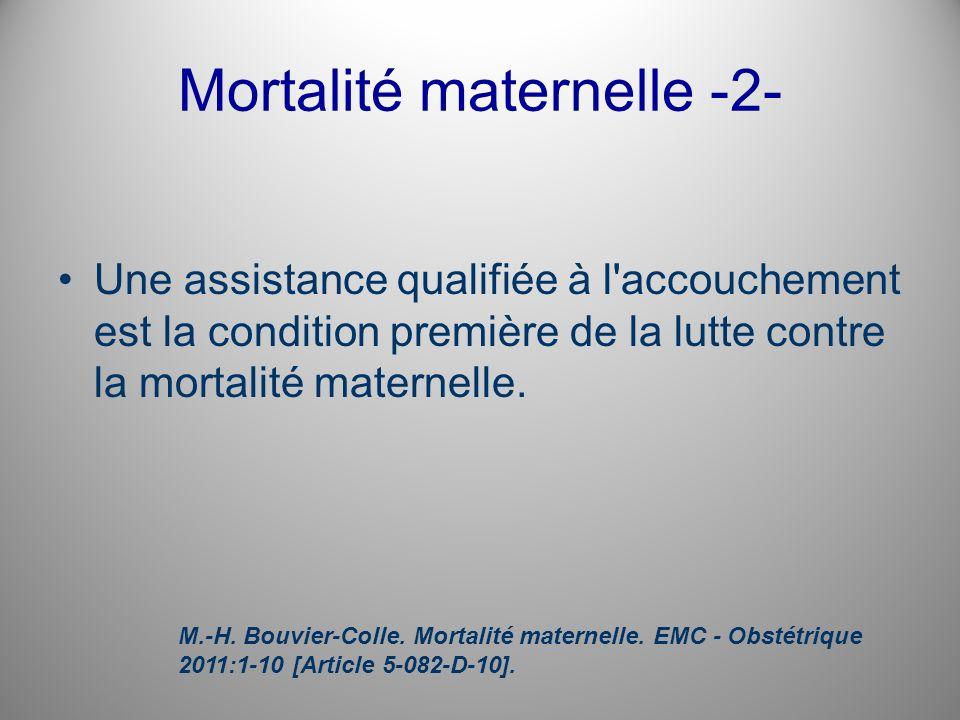 Mortalité maternelle -2-