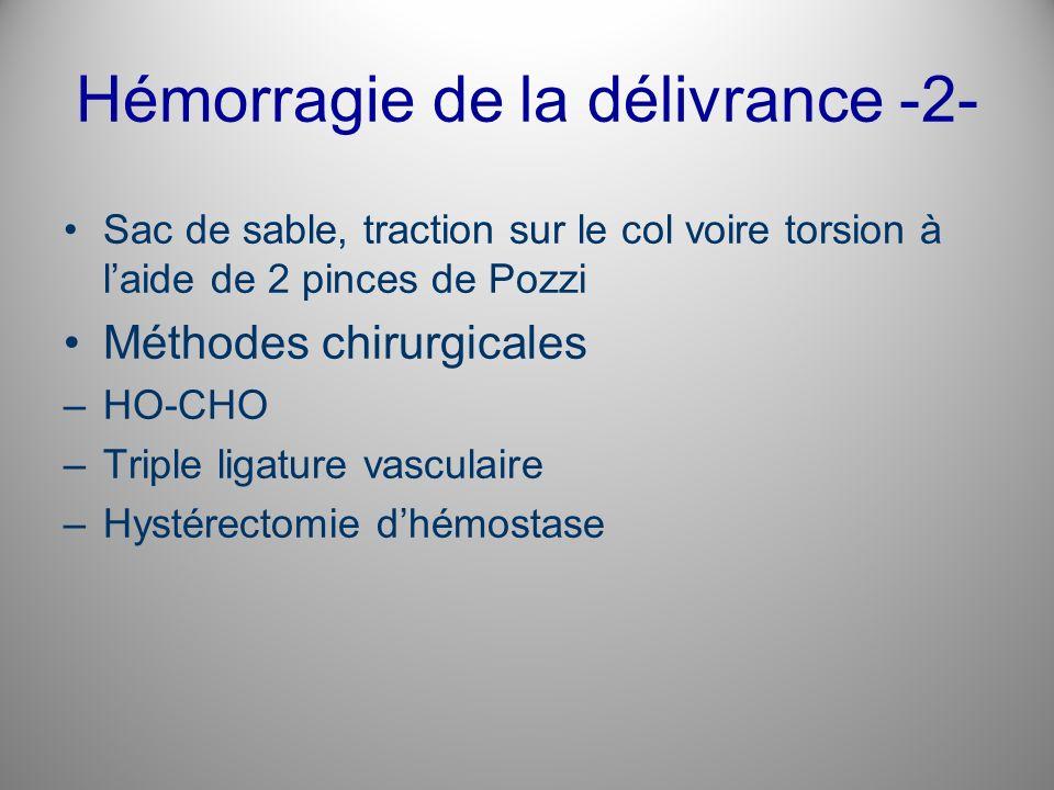 Hémorragie de la délivrance -2-