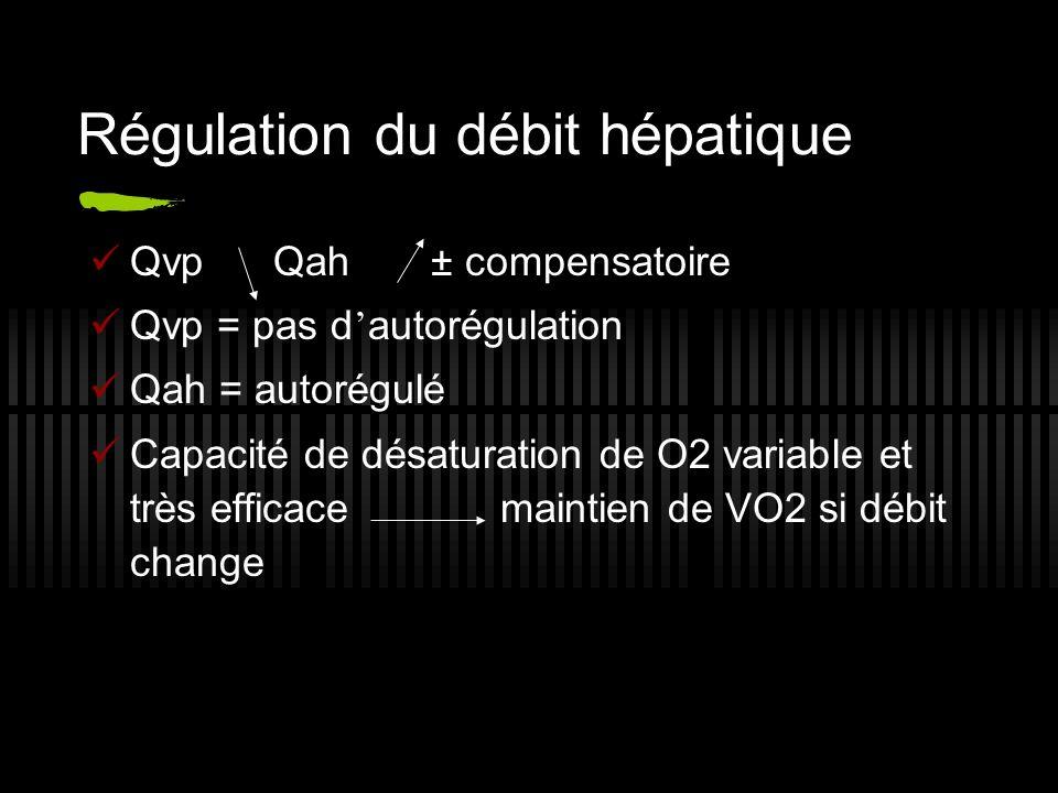 Régulation du débit hépatique