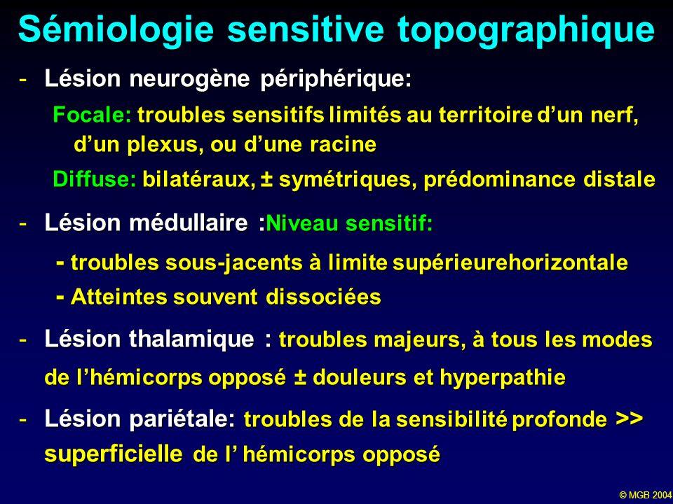 Sémiologie sensitive topographique