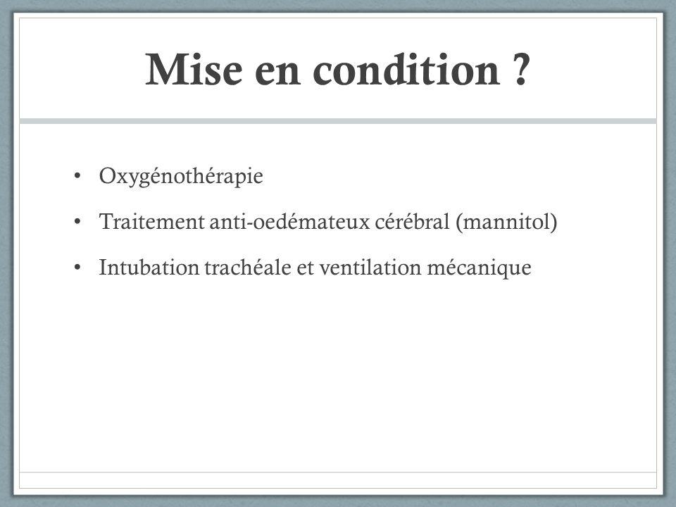 Mise en condition Oxygénothérapie