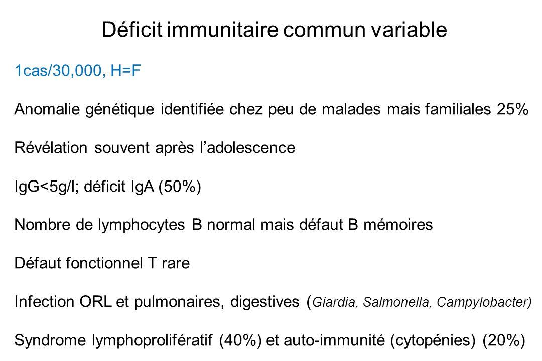 Déficit immunitaire commun variable