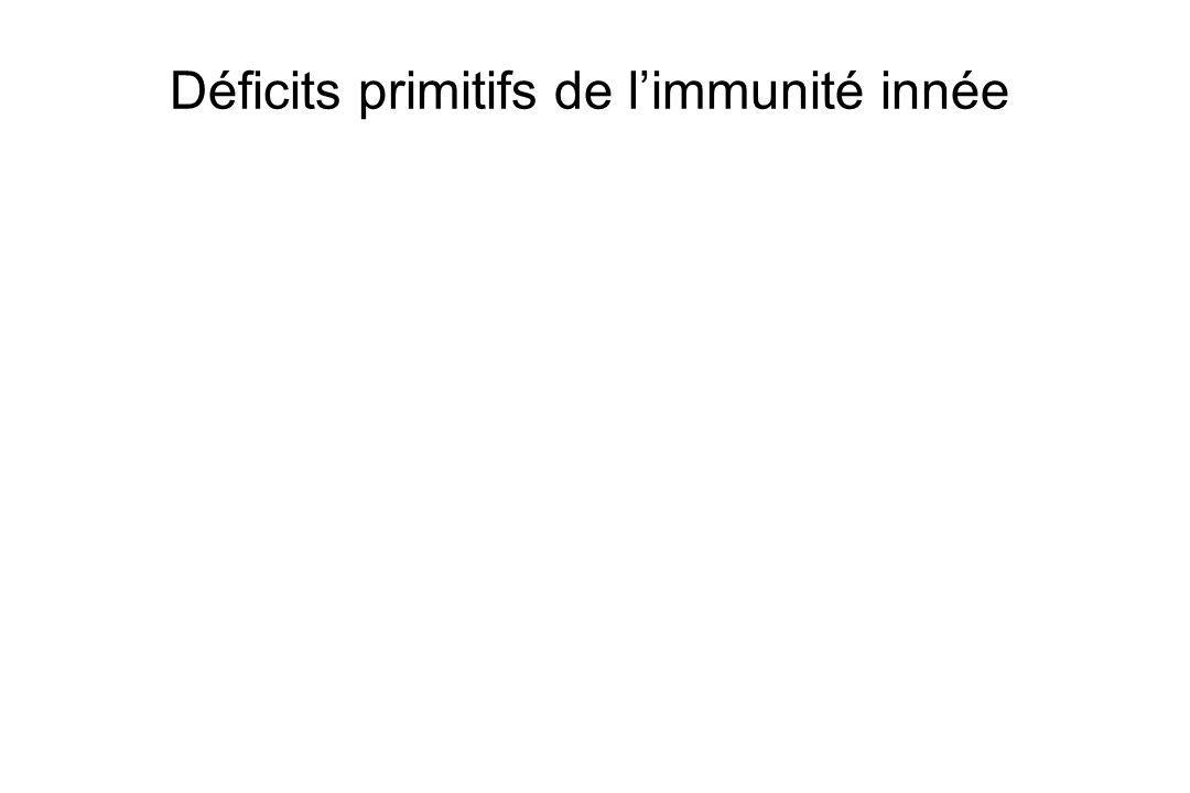 Déficits primitifs de l'immunité innée