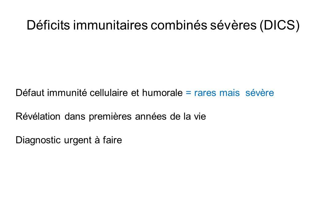 Déficits immunitaires combinés sévères (DICS)