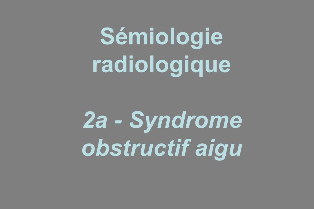 Sémiologie radiologique 2a - Syndrome obstructif aigu