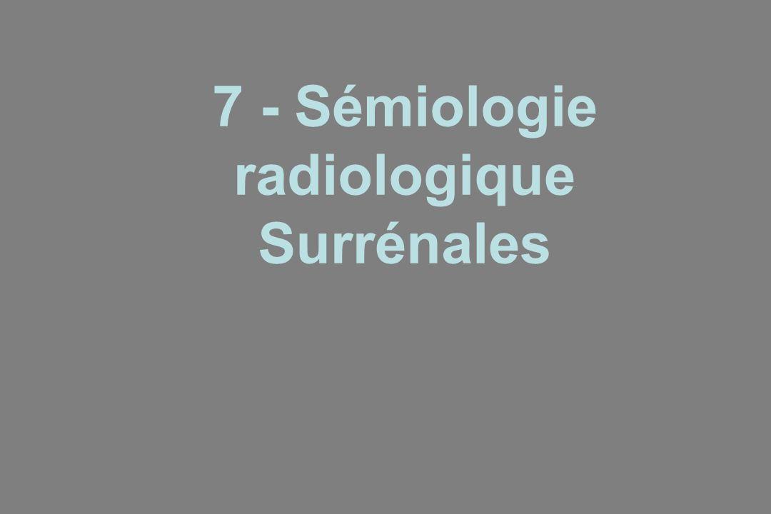 7 - Sémiologie radiologique Surrénales