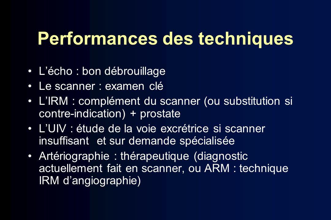 Performances des techniques