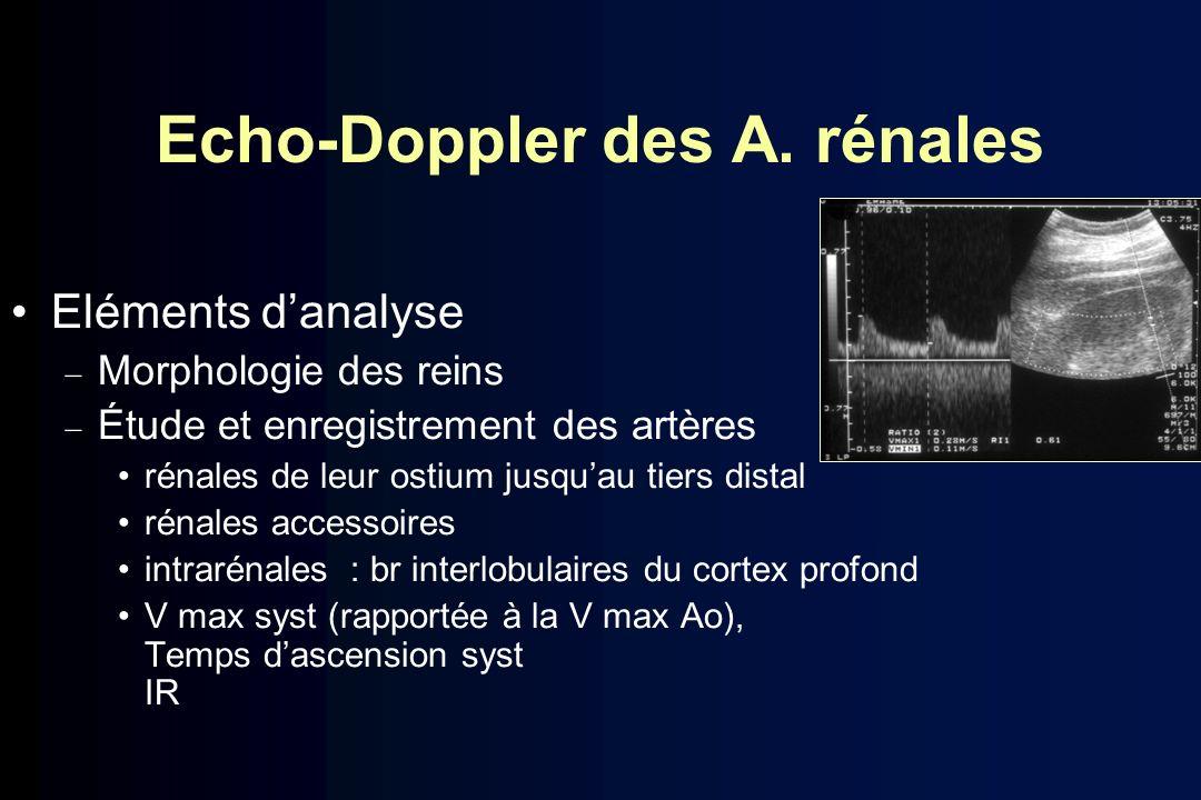 Echo-Doppler des A. rénales